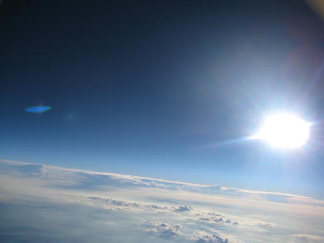 Снимка от балона - някъде из небесата